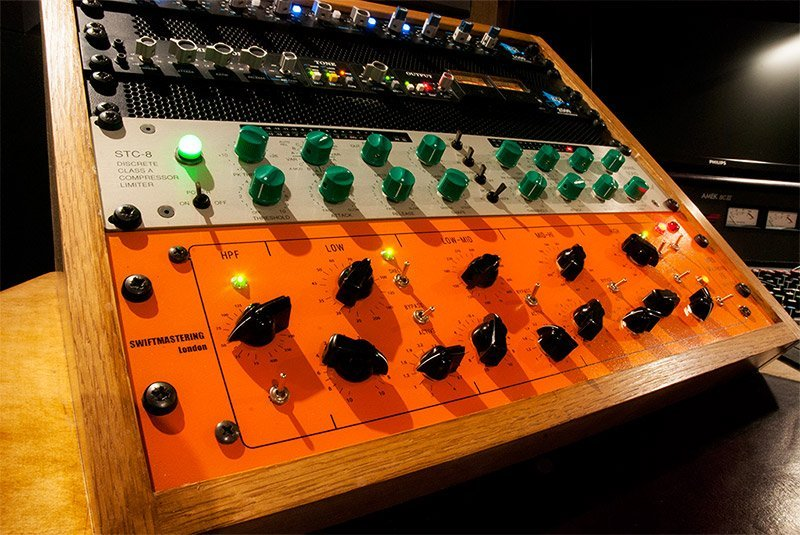 only the best analogue gear are used in our stem mastering sessions